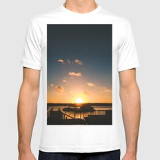 Sun is Going Down MEDIUM Mens Fitted Tee White
