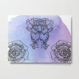 Carnation and Peony Metal Print
