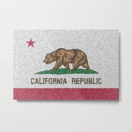 California Flag Distorted Metal Print