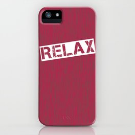 Red Relax iPhone Case