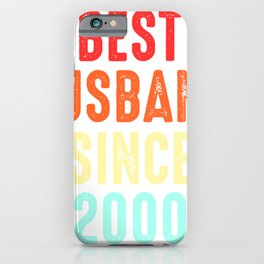 Husband Gift Best Since2000 Marriage Groom Present iPhone Case