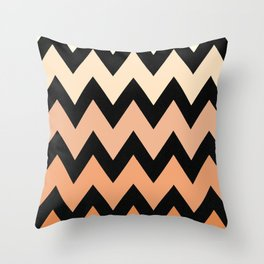Gradient  Chevron Print Throw Pillow