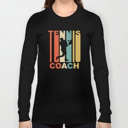 Vintage 1970's Style Tennis Coach Graphic Long Sleeve T-shirt