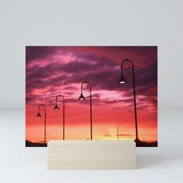 Street lamps Mini Art Print