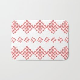 Pattern - Family Unit - Slavic symbol Bath Mat