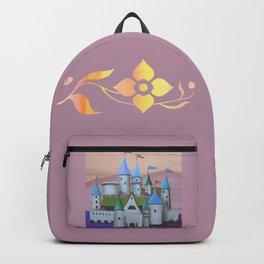 Enchanted Castle after Sunset Backpack
