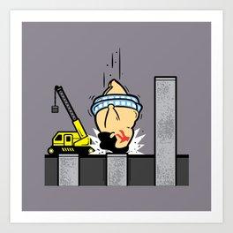 Part Time Job - Piling Construction Art Print