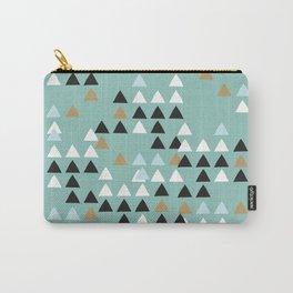 Scandinavian geometric triangle Carry-All Pouch