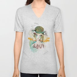 War girl Unisex V-Neck