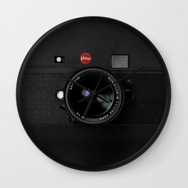Vintage Black Camera Wall Clock