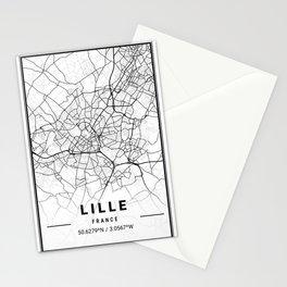 Lille Light City Map Stationery Cards