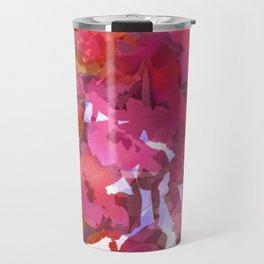 Peach Poppy Patch Travel Mug