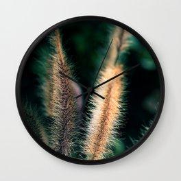 Ornamental grass Wall Clock