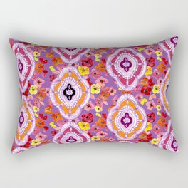 Pink, Orange, Purple Pattern Rectangular Pillow