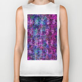 psychedelic abstract art pattern texture background in pink blue black Biker Tank