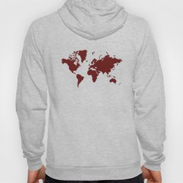 World with No Borders - burgundy Hoody