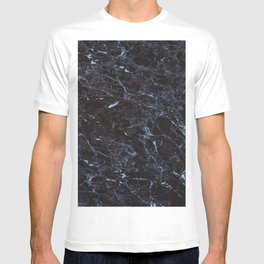 Dark blue Water Marble T-shirt