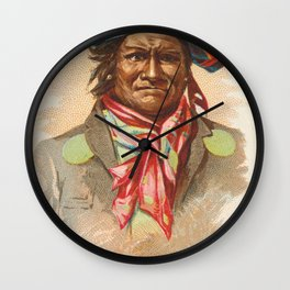 Geronimo, Apache, from the American Indian Chiefs series (N2) for Allen & Ginter Cigarettes Brands,1 Wall Clock