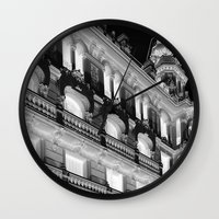 real madrid Wall Clocks featuring Madrid by Kellabell9