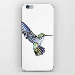 Flying hummingbird iPhone Skin