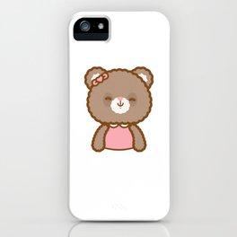 Bear Girl iPhone Case