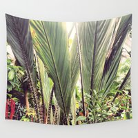 botanical Wall Tapestries featuring Botanical by Fig and Berry Clothing