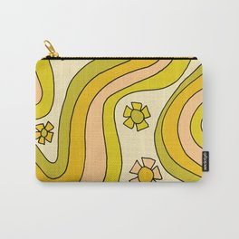 groovy rainbow flower power wallpaper vibes Carry-All Pouch
