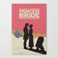 the princess bride Canvas Prints featuring The Princess Bride by mattranzetta