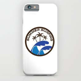 Fresh Hawaiian Style Tshirt Design Summer Surfing iPhone Case