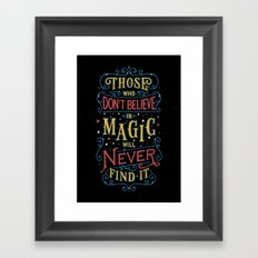 Magic – Roald Dahl Quote Framed Art Print