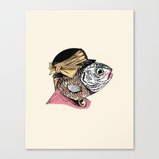 Mrs. Fish Canvas Print