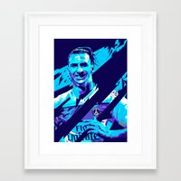 zlatan Framed Art Prints featuring Zlatan Ibrahimović : Football Illustrations by mergedvisible