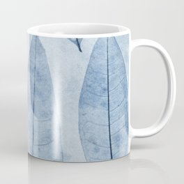 Botanical Pattern 2 (blue) Coffee Mug