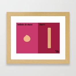 Bolinho de Chuva x Churro Framed Art Print