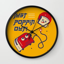 Just Poppin Out! Wall Clock