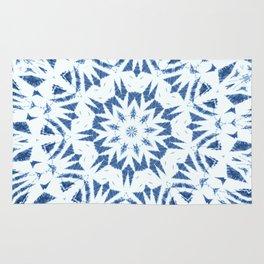 Snowflake Denim & White Rug