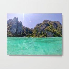 Emerald Water in Phi Phi island Metal Print