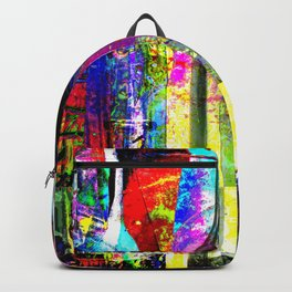 Colorful Glass Bottles Collage Backpack