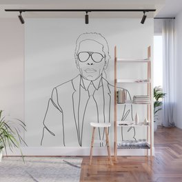 Karl Lagerfeld portrait Wall Mural