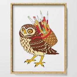 Art Owl Serving Tray