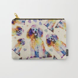 Color splash poodle dog on canvas Carry-All Pouch