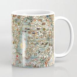 Carta Marina, map of Scandinavia by Olaus Magnus - 1539 Coffee Mug