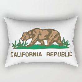California Republic Bear with Marijuana Plants Rectangular Pillow