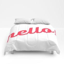 Pastel Pretty Word Art / HOLLA! / Urban Slang Comforters