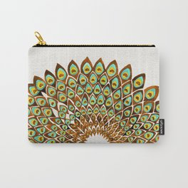 Peacock Mandala – 70s Palette Carry-All Pouch