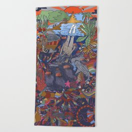 Dive into the Unknown Beach Towel
