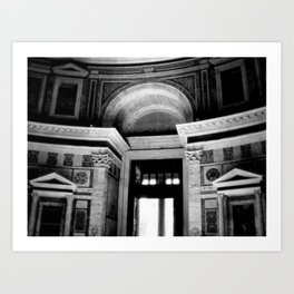 Halls of the Past Art Print