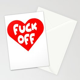 Funny Anti Valentine's Day Fuck Off Adult Humor Gift Stationery Cards