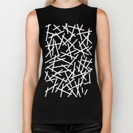 Kerplunk Navy and White Biker Tank