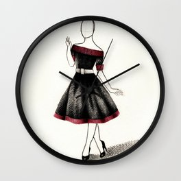 1950s gown Wall Clock